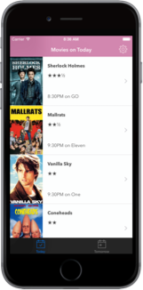 Couch Movies iPhone app screenshot